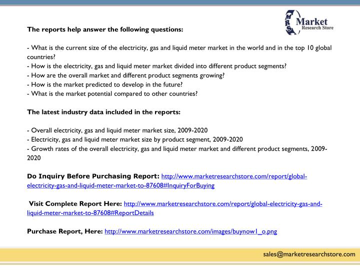 The reports help answer the following questions: