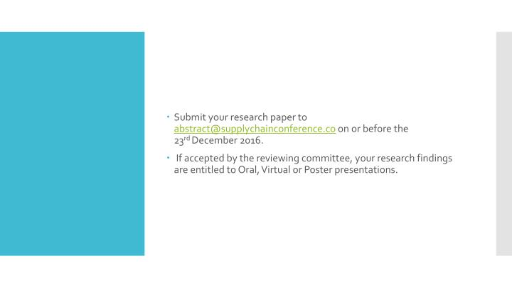 Submit your research paper