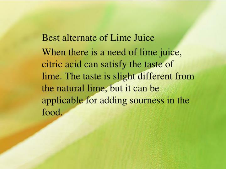 Best alternate of Lime Juice