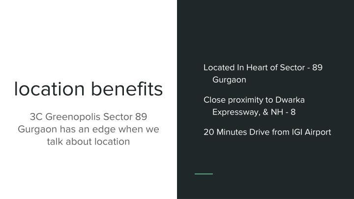 Location benefits
