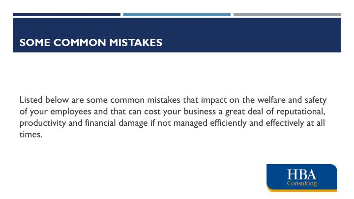 Some common mistakes