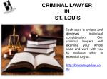 criminal lawyer in st louis