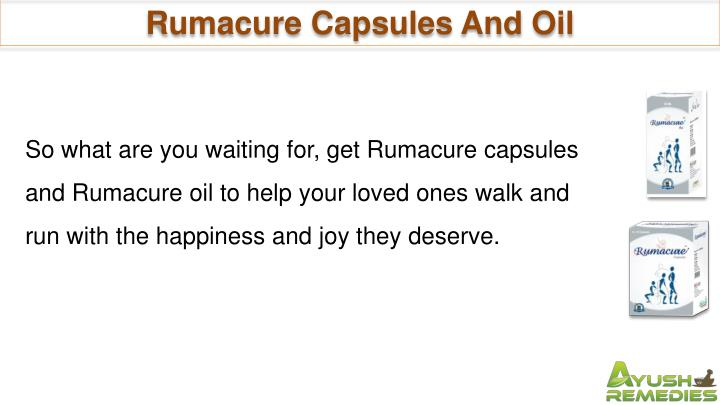 Rumacure Capsules And Oil
