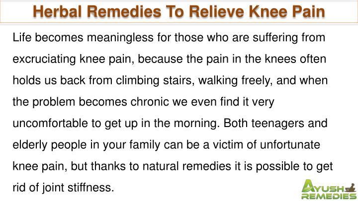 Herbal Remedies To Relieve Knee Pain