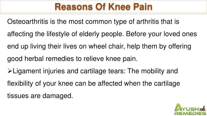 Reasons Of Knee Pain