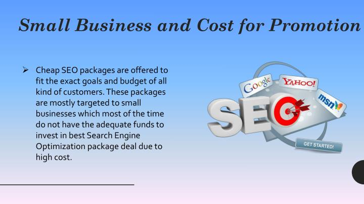 Small business and cost for promotion