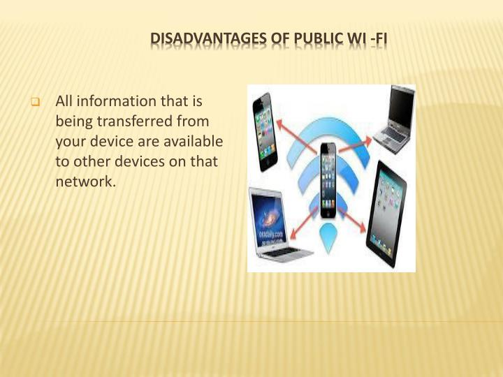 Disadvantages of public wi fi