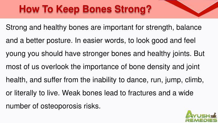 How To Keep Bones