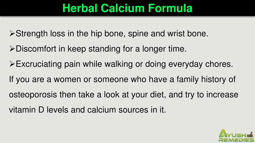 PPT - Herbal Calcium Formula Supplements To Increase Vitamin