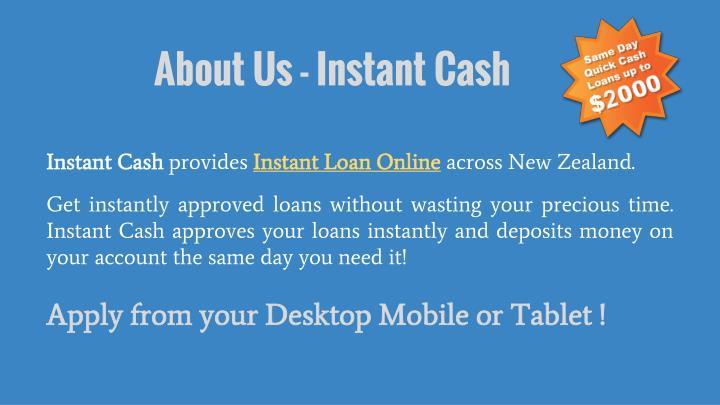 About us instant cash