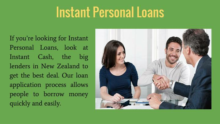 Instant Personal Loans