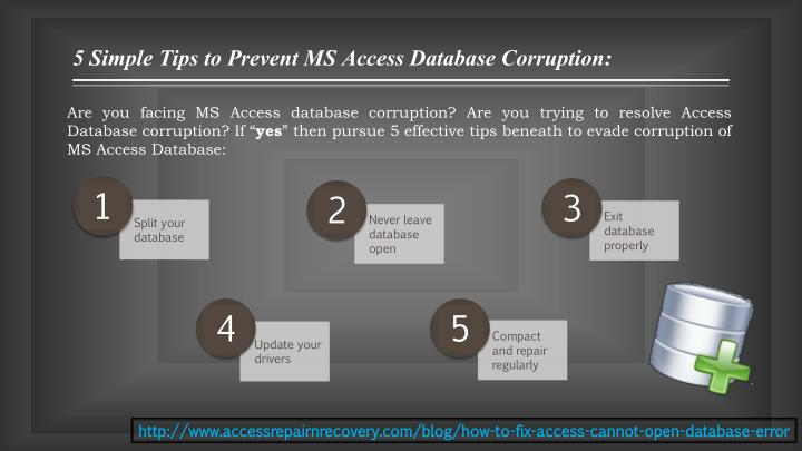5 Simple Tips to Prevent MS Access Database