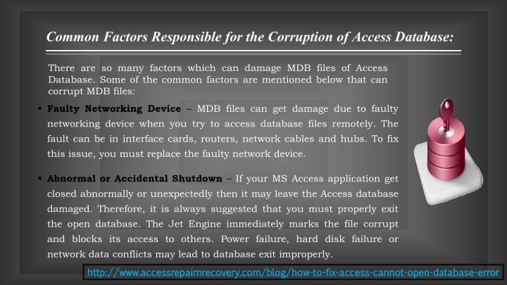 Common Factors Responsible for the Corruption of Access