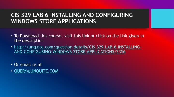 Cis 329 lab 6 installing and configuring windows store applications1
