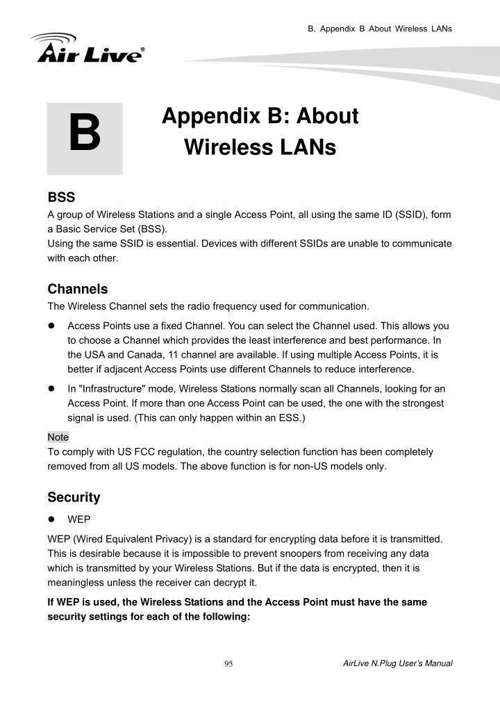 B. Appendix B About Wireless LANs