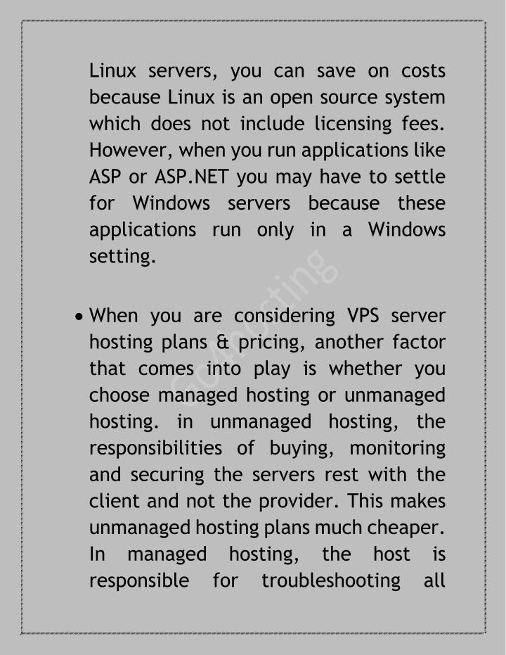 Linux servers, you can save on costs