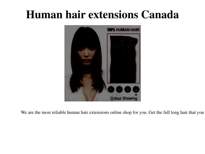 Human hair extensions canada