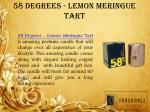 58 degrees lemon meringue tart
