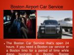 boston airport car service