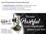 know the specification of asbestos microscope