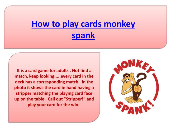 How to play cards monkey