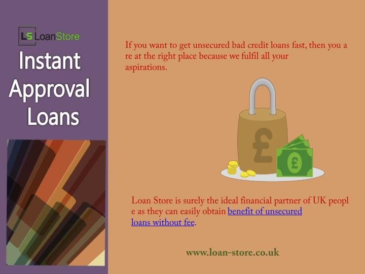 If you want to get unsecured bad credit loans fast, then you are at the right place because we