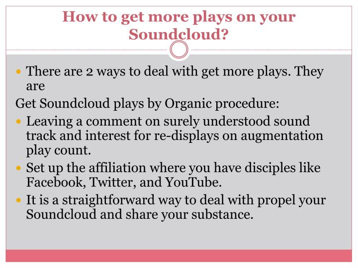 How to get more plays on your soundcloud