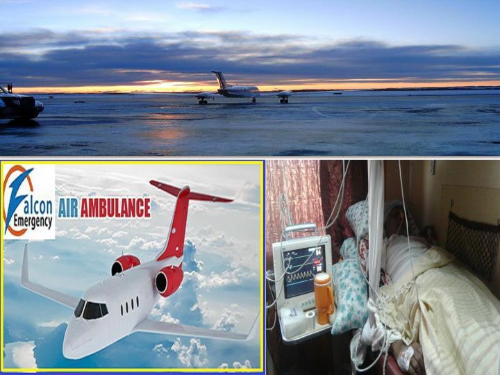 Falcon air ambulance services in varanasi and bhopal