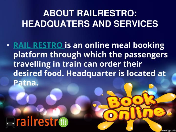 About railrestro headquaters and services