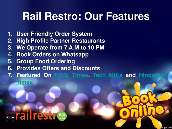 Rail Restro: Our Features