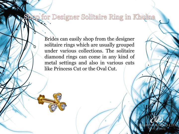 Shop for designer solitaire ring in khulna