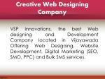creative web designing company