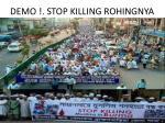demo stop killing rohingnya