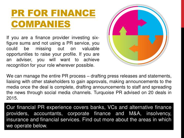 PR FOR FINANCE