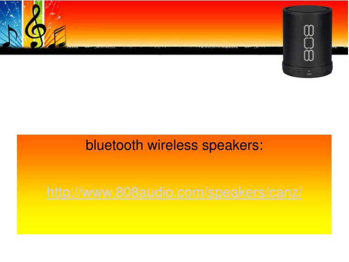bluetooth wireless speakers: