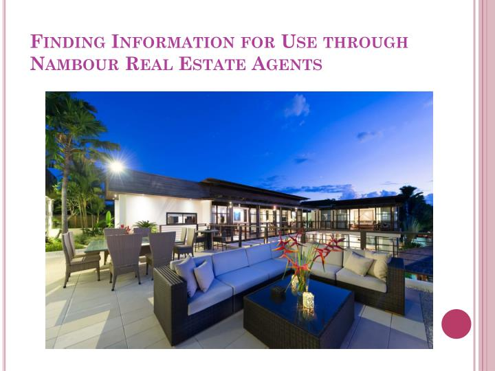 finding information for use through nambour real estate agents