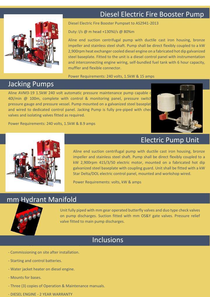 Diesel Electric Fire Booster Pump