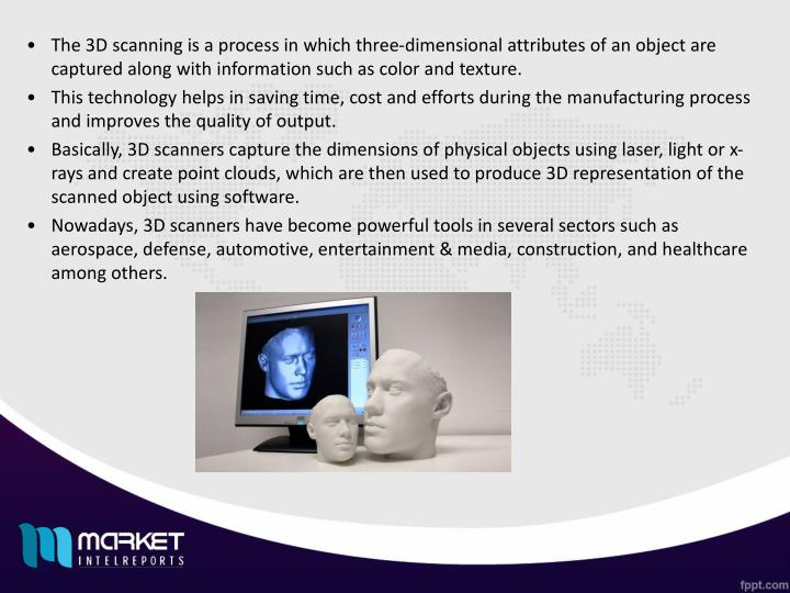 The 3D scanning is a process in which three-dimensional attributes of an object are captured along w...