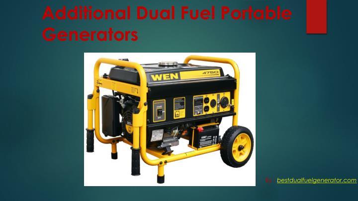 Additional Dual Fuel Portable Generators