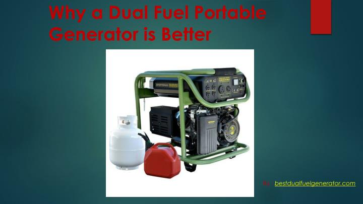 Why a dual fuel portable generator is better