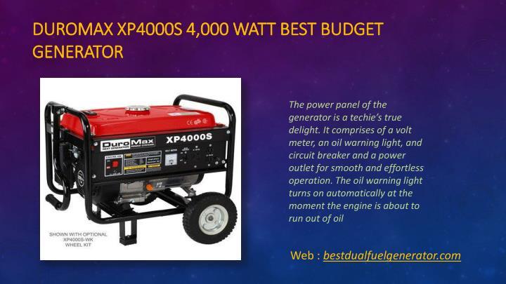 Duromax xp4000s 4 000 watt best budget generator