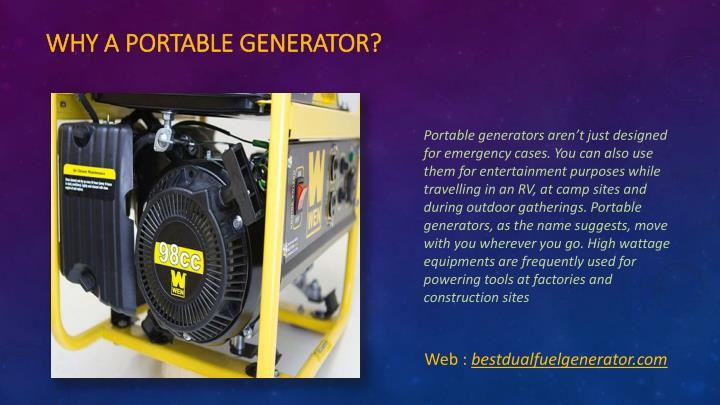 Why a Portable Generator?