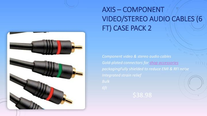 Axis – Component Video/Stereo Audio Cables (6