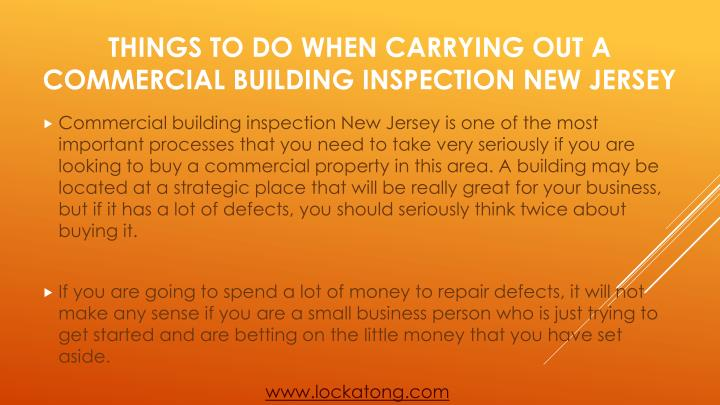 Things to do when carrying out a commercial building inspection new jersey1