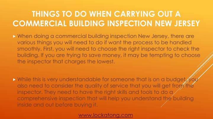 Things to do when carrying out a commercial building inspection new jersey2