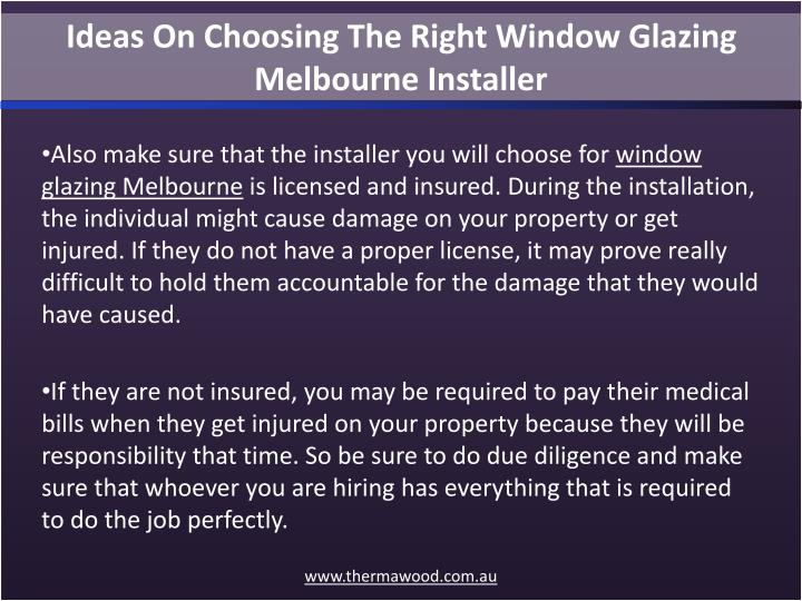 Ideas On Choosing The Right Window Glazing Melbourne Installer