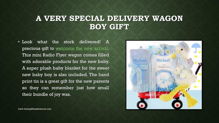 A very special delivery wagon boy gift