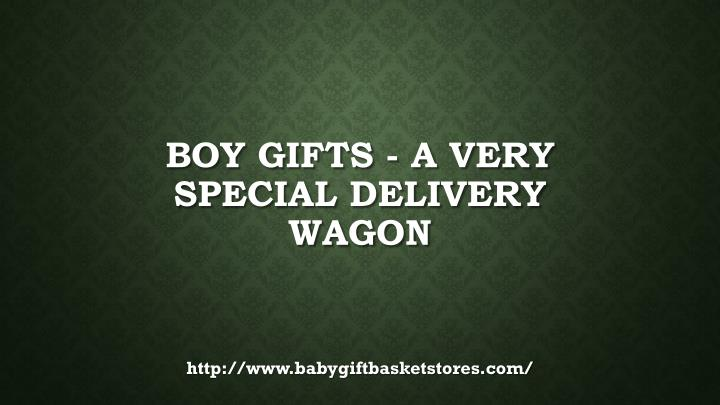 Boy gifts a very special delivery wagon