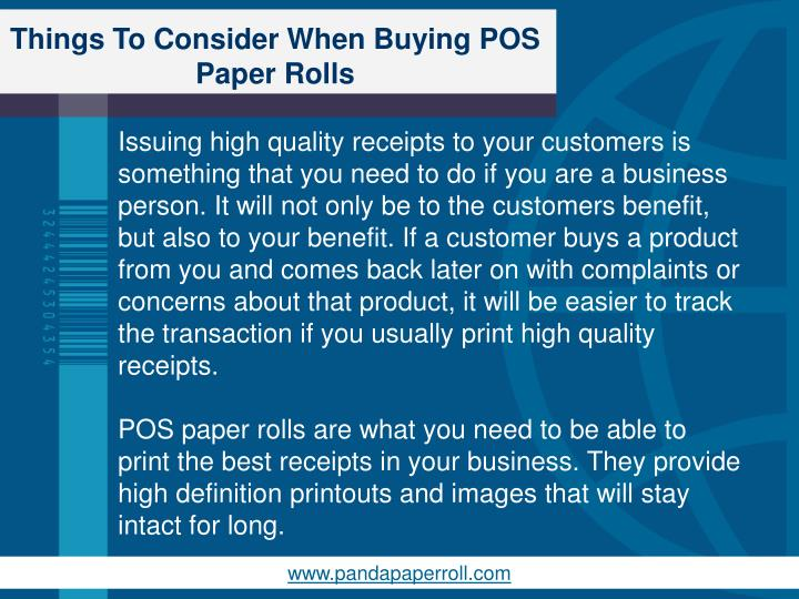 Things to consider when buying pos paper rolls1