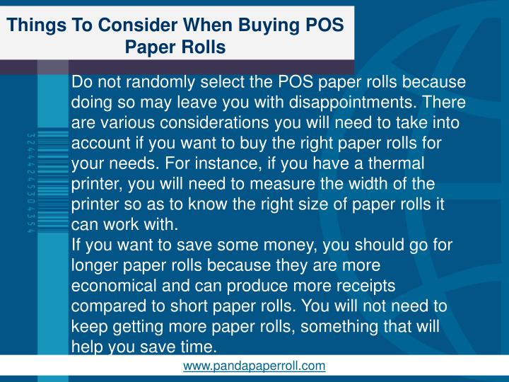 Things To Consider When Buying POS Paper Rolls